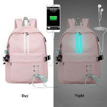 Tourya mochila feminina impermeável refletiva, mochila feminina impermeável e antirroubo com carregador usb, ideal para viagens e transportar laptops