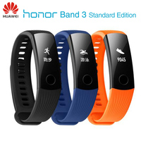 New Original Huawei Honor Band 3 Smart Wristband Swimmable 5ATM OLED Screen Touchpad Continual Heart Rate