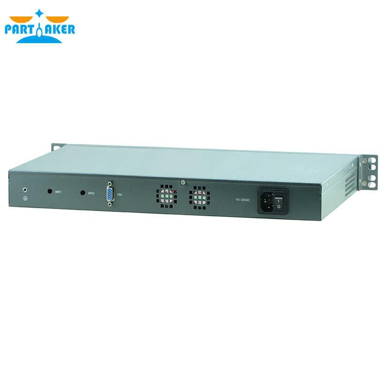 1U Rack Firewall Router Network Server 6 82583v J1900 1.8G Support ROS Mikrotik PFSense F4 2G RAM 8G SSD