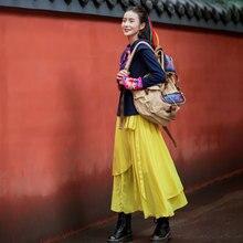LYNETTE'S CHINOISERIE 2017 autumn women irregular solid color long skirt national trend bust skirt
