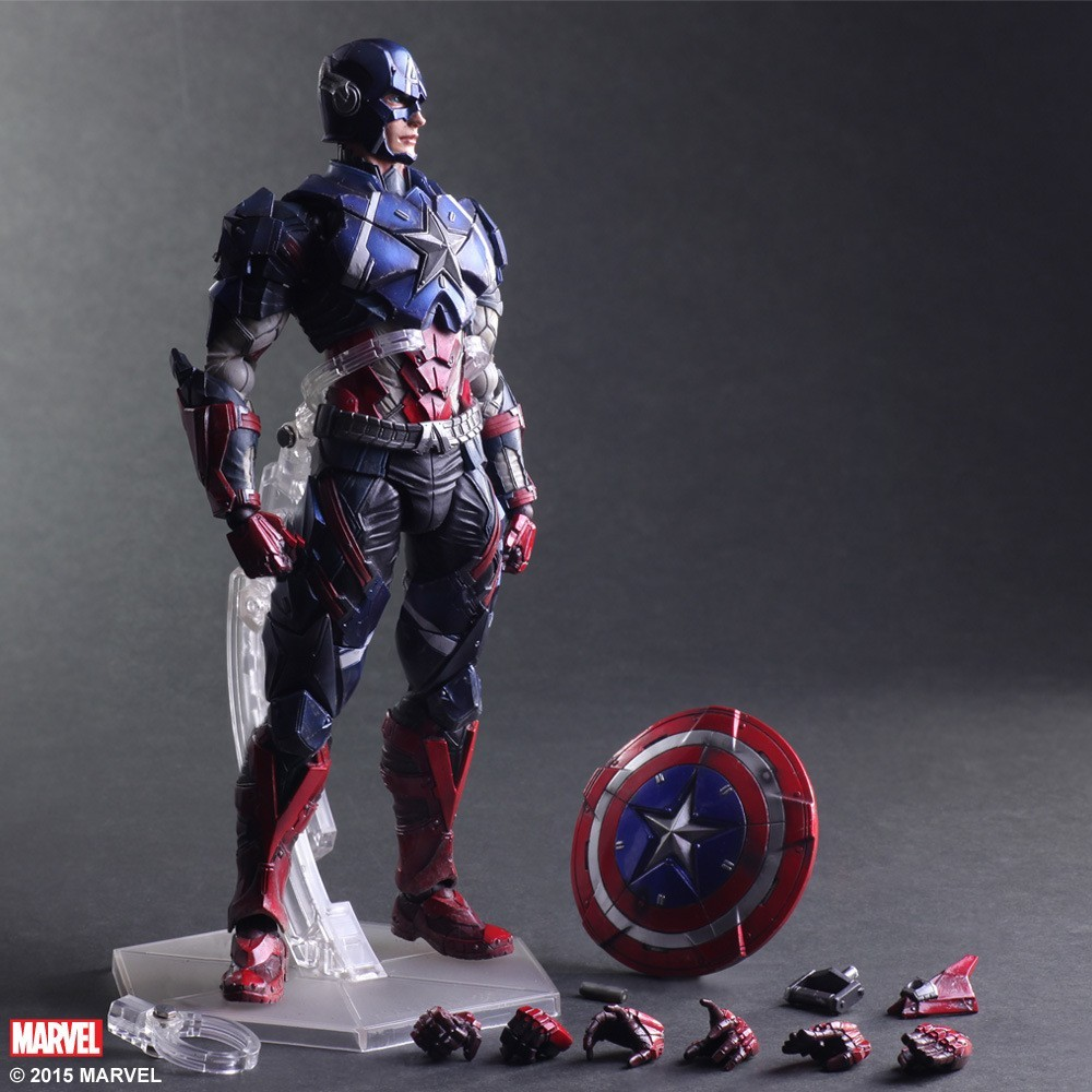 New Marvel Hot Movie PLAY ARTS PA The American Captain PVC Action Figure Statue Doll Toy 27cm Model toys Hot Sale цена и фото