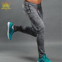 JSK602 mannen Sport Broek 2 Zip Pockets Training Fitness Running Broek Mannen Sportkleding Losse Stijl Bodem Sport Gym Kleding