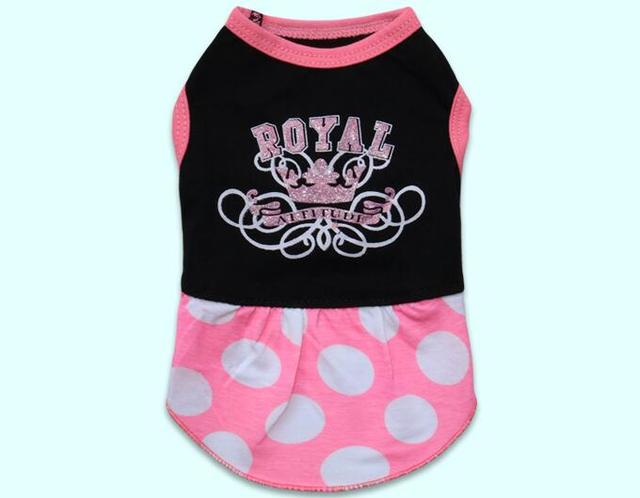 1pcs dogs cats fashion princess dress doggy summer style dresses clothes puppy party dress apparel XS S M L