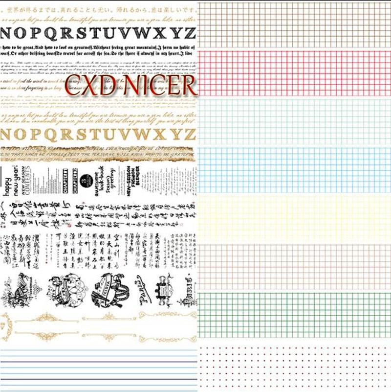 Full Volum Poems English Letters Decorative Scotch Tape Text Square False Retro Adhesive Tape tennyson poems