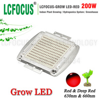 200W High Power LED Chip Deep Red 660nm 630nm Diode COB Plant Growth Hydroponics For DIY
