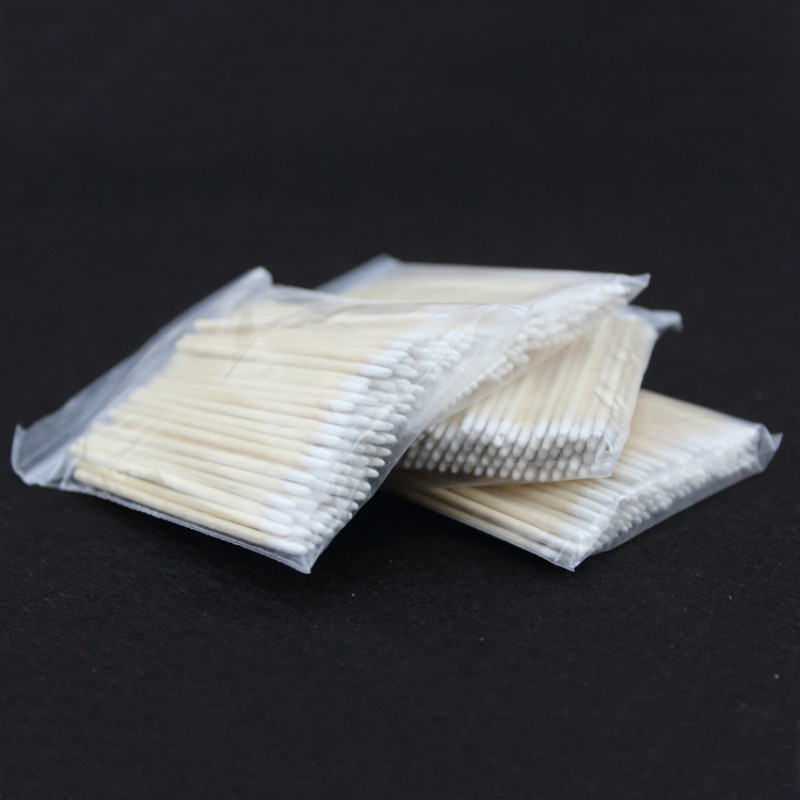 Image 2 - 100pcs Wooden Cotton Swab Cosmetics Permanent Makeup Health Medical Ear Jewelry 7cm Clean Sticks Buds Tip-in Tattoo accesories from Beauty & Health