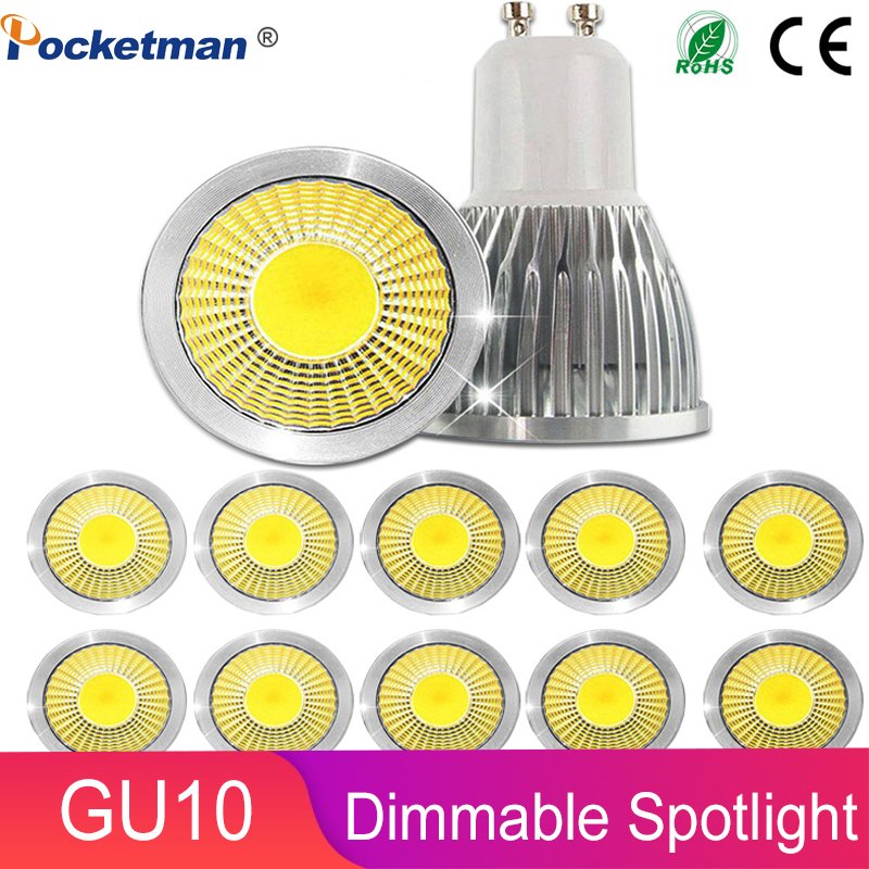 Z5 Gu10 Led Dimmable Led Spotlight Bulb Light 15W 10W 7W Gu10 Led Cob Spot Light Lamp Gu10 Led Bulb AC85-265v Lampada