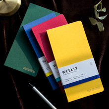 weekly planner Agenda Solid color A6 Journal Travel Notebook Organizer Schedule Meeting Office School Supplies Stationery Gift недорго, оригинальная цена