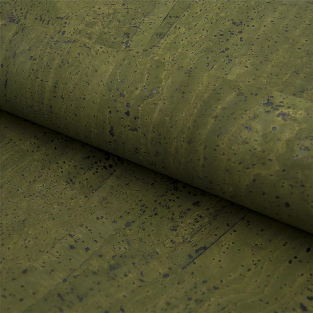 Cork fabric natural Portuguese natural Material dark GREEN Cork Fabric Natural Cork Vegan fabric Kork corcho COF-124