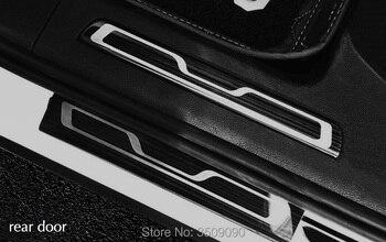 Per Vw Tiguan 2016 2017 2018 2019 MK2 Car Piatto Dello Scuff Del Davanzale Del Portello Trim Pedale Benvenuto Styling Contorno Strisce Autoadesivo di Protezione