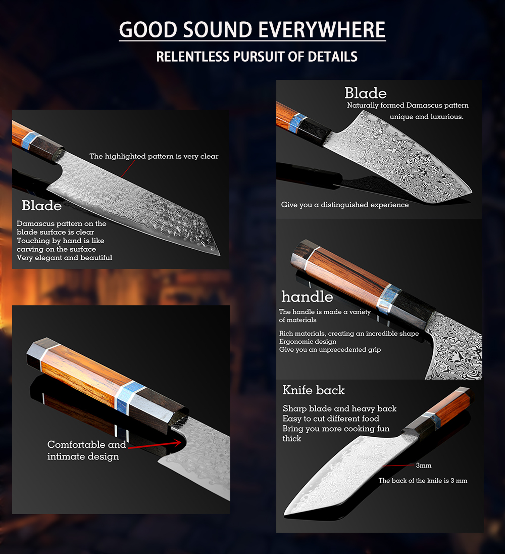 Handmade Damascus Kitchen Knife | Letcase Knives