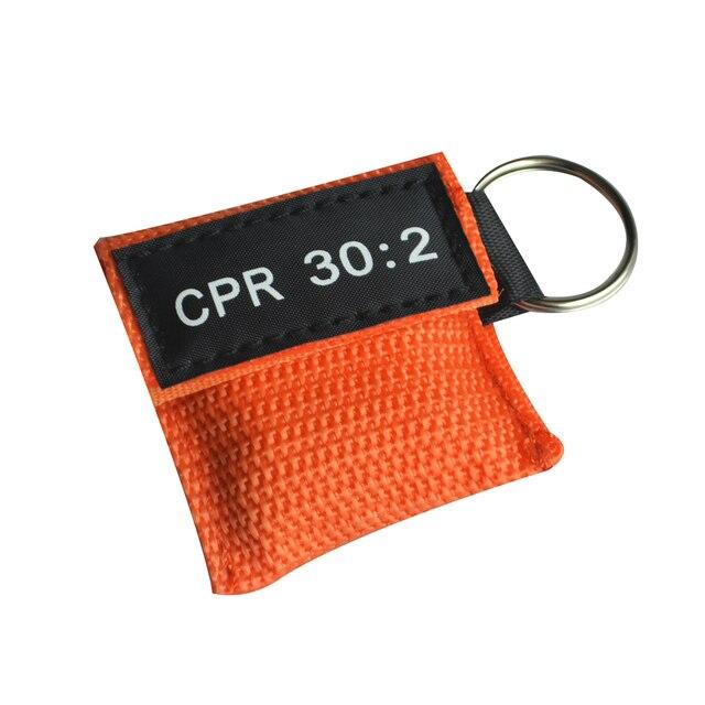 100 шт. CPR маска для реанимации односторонний клапан жизненный ключ тренировочная карманная маска для защиты лица инструмент для ухода за здоровьем оранжевый