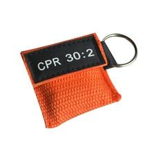 100pcs CPR Resuscitator Mask One way Valve Life Key Skill Training Pocket Mask Face Guard Health Care Tool Orange
