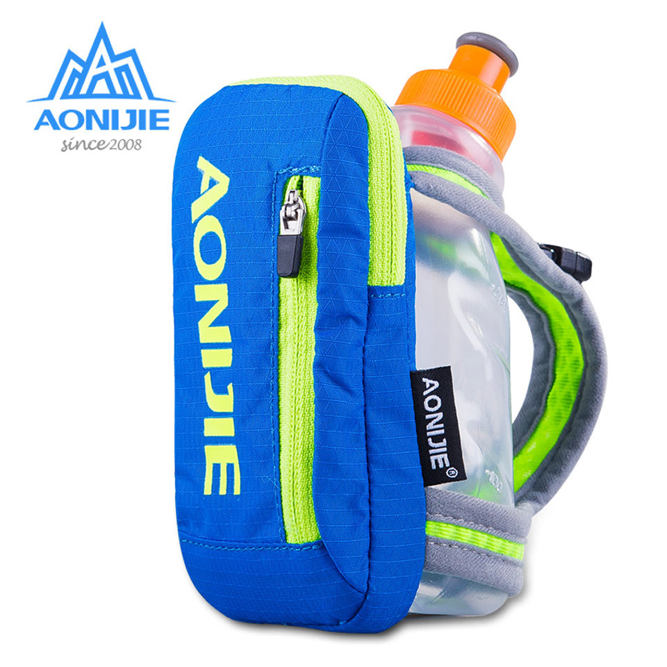 AONIJIE Nylon Marathon Handheld Hydration Pack Outdoor Sports Bag Hiking Cycling Running Kettle Hand Bag For 250ml Water Bottle