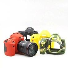 Красивые Мягкие Силиконовые Резина Камеры Защитный Чехол Кожа Случае Для Canon 5D Mark III 5DS 5DR кожаная сумка для Фотокамеры Объектив сумка