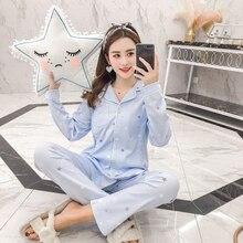 2019 Maternity Monthly clothing womens pajamas spring autumn Postpartum lactation feeding set S-3XL women maternity suit