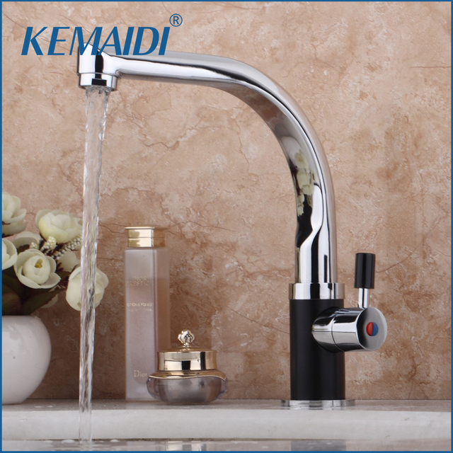 Kemaidi New Design Hot Water Tap Bathroom Kitchen Faucet Deck Mounted Mixer Bathroom Tap Set