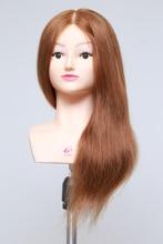 100% Real Hair Mannequin Head With Hair Human Hair Training Maniqui Head For Hairdresser Hairdressing Doll Heads Manikin Head
