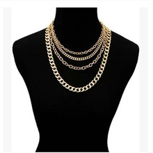 A simple fashion good luck chain joker multilayer necklace of thoracic chain body chain accessories wholesale necklace