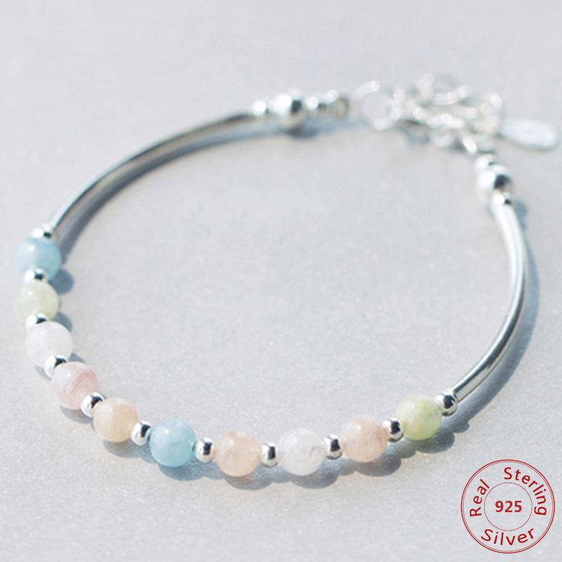 Pink Box Genuine 12Mm Lava and Hematite Mix Bracelet Silver Valued by God