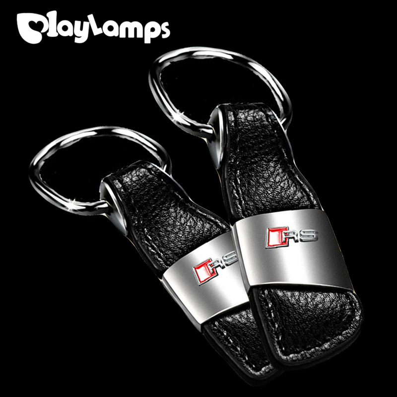 Car Key Rings Leather Keychain Holder 3D Logo For Honda Mercedes Benz Audi a3 Ford High Quality ...