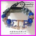 10pcs High quality Handcrafted Society Union shamballa letter bracelet ,SGRHO Sigma gamma rho charm macrame Bracelet