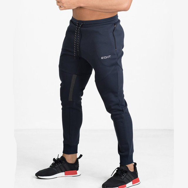 New Mens Sweatpants Gyms Fitness drawers Bodybuilding Joggers workout trousers Male Casual sporting cotton Slim fit Pencil Pants 1