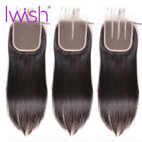 Free Middle Part Peruvian Hair Closure 4x4 Straight Top Lace Closure Human Hair Remy Hair 10-20inch Hand Tied Free Shipping