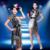 Mulheres ' s modernos traje de dança lantejoulas jaqueta Top curto conjunto de roupas brilhante Sexy trajes cantora Paillette trajes de Jazz