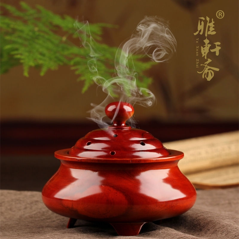 home decoration Rosewood sandalwood incense burner furnace solid wood tower incense disc box with St. Chhome decoration Rosewood sandalwood incense burner furnace solid wood tower incense disc box with St. Ch