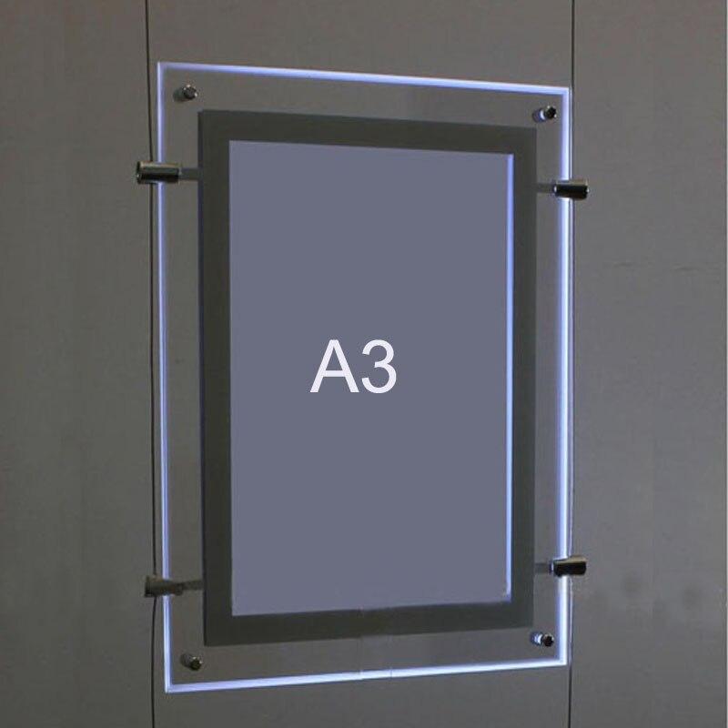 Упаковка/5 шт.) A3 двухсторонний кабельный дисплей с подсветкой висячие системы, искусство и галерея висячие системы светодиодные Розничные окна дисплей