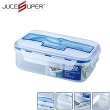 Hohe Kapazität Geschirr Sets PP Bento Lunch Box Tragbare Mikrowelle Mit Suppe Schüssel Stäbchen Löffel Lebensmittelbehälter 1L
