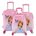 Sweet Girl Princess Sofia Rolling Luggage/Kids Travel Trolley Bag/Children ABS+PC Suitcase On Wheels Maletas De Viaje Con Ruedas