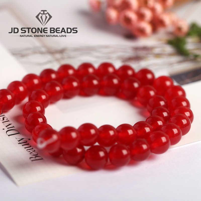 18 Kleuren Chalcedoon Kralen Jade Armband Pick Maat 4 6 8 10 12 Mm Diy Handgemaakte Sieraden Accessoires Fabriek Prijs gratis Verzending