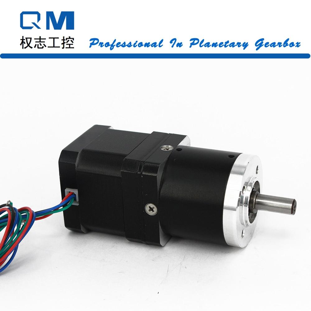 Nema 17 stepper motor L=40mm with planetary reduction gearbox ratio 15:1  cnc robot pump nema 17 gear stepper motor l 26mm with planetary gearbox ratio 40 1