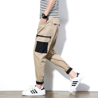 New 2017 Spring Men Joggers Khaki Casual Cross Pants Mens Fashion Cargo Trousers For Man Male