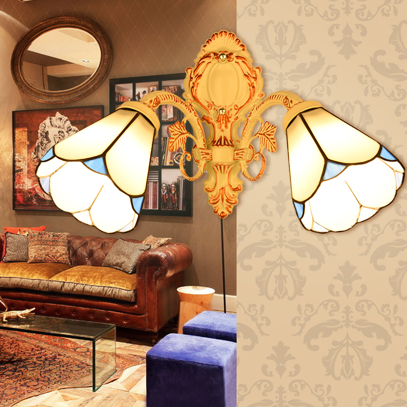 Mediterranean LED Tiffanylampe,Tiffany Mermaid Wall Lamp AC 110/220V E27 Wall Lamps for Home Corridor BedroomMediterranean LED Tiffanylampe,Tiffany Mermaid Wall Lamp AC 110/220V E27 Wall Lamps for Home Corridor Bedroom