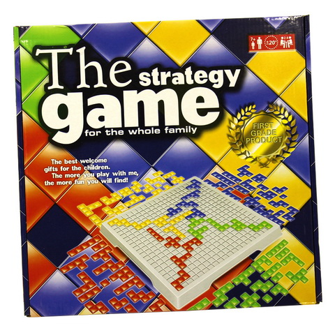 Blokus Board Game Strategy Games Squares English Version 4 Players / 2 Players Set Family Games