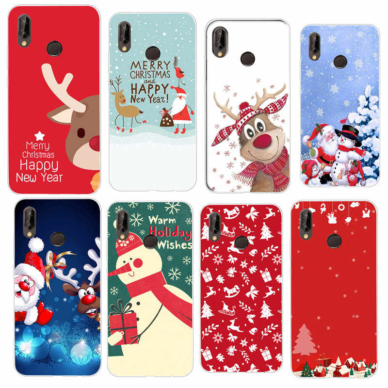 Coque For Huawei Honor 9 Lite Case Funda Silicone Cover Capa for huawei P Smart P20 P10 Mate 10 P8 P9 Lite 2017 Christmas Cover