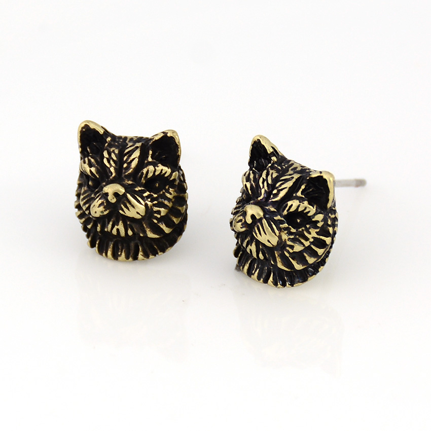 Punk Vintage 3D Fluffy Persian Cat Pet Earring Cats Brincos Love Earrings For Women Jewelry Black Friday Deals Christmas Gift