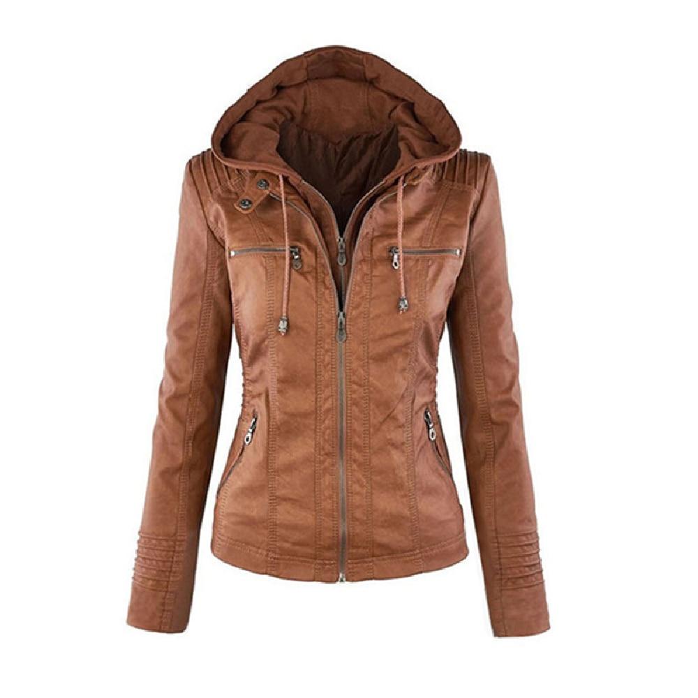 Manteau Zipper Cuir En Femmes marron or Mince D'hiver Parka Ciel Chaud Outwear Tranchée Up Veste Vêtements Solide Noir bleu Vestes pu OXZwikuTPl