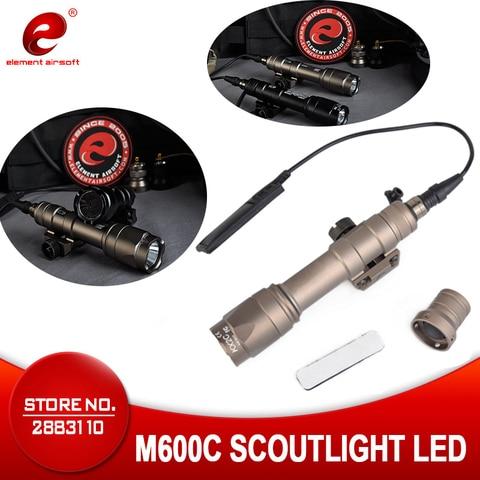 elemento airsoft tatico arma de luz surefir m600c caca rifle lampada pressao remoto 20mm ferroviario