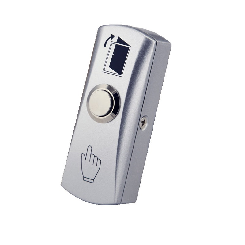 Stainless Steel Release Switch Exit Button with box for access control system stainless steel rectangle exit push release button switch for electric magnetic lock door access control
