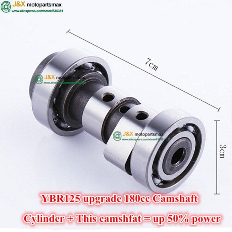 YBR125cc mise à niveau à 150cc 168cc 170cc 180cc arbre à cames modifié augmenter la puissance à 30%