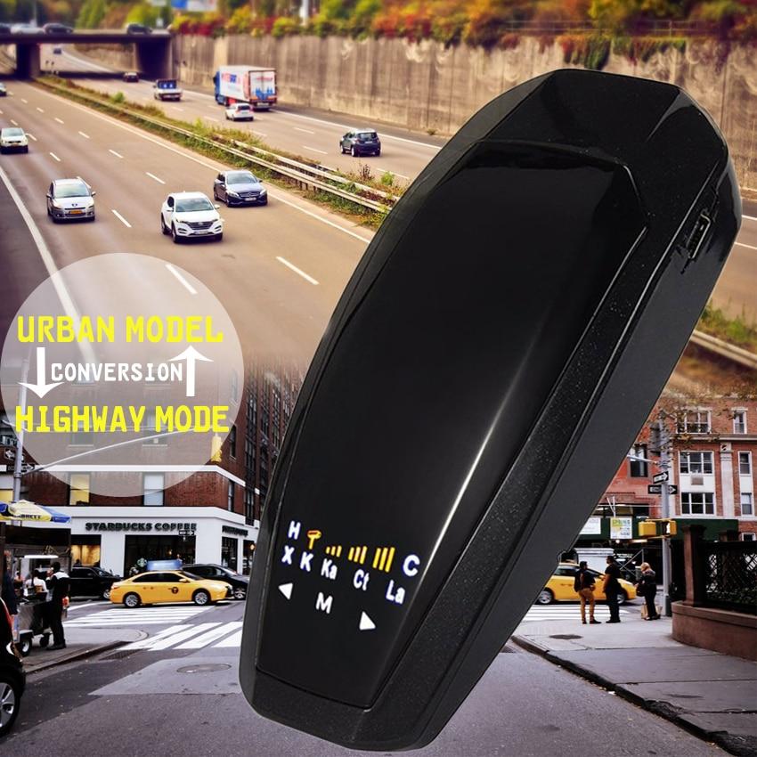 ENKLOV 1.2 LED Display Car Laser Radar Detector w/ English / Russian Voice Alarm Black Car Detector Russia With russian languag running car style intelligent full band car radar detector blue black english russian