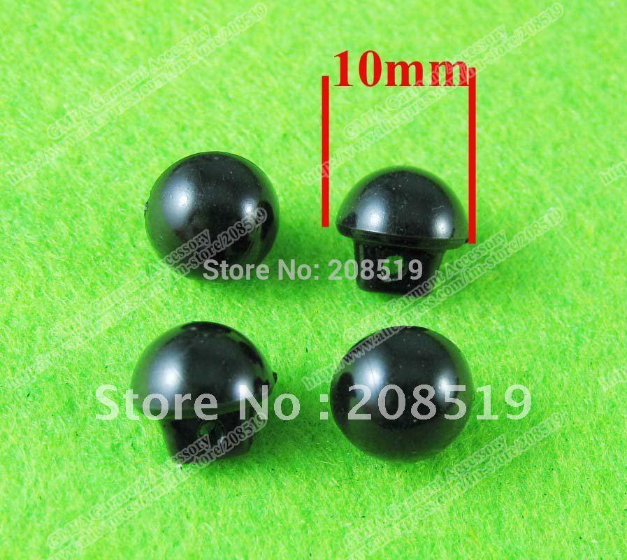NB0030 Black buttons 10mm shank Pearl plastic button 400pcs clothes accessories