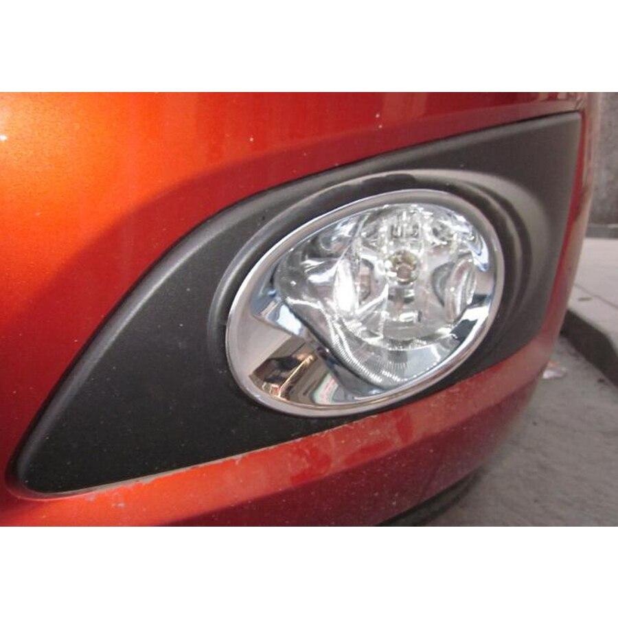 ABS Chrome Front Head Fog Light Lamp Cover Trim 2pcs for Ford Explorer 2011-2014