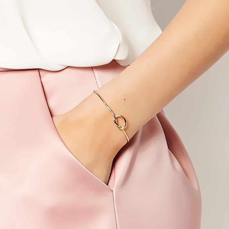 HOT Europe and the United States simple style Bangles personalized knotted Bangle women Bangles Wholesale