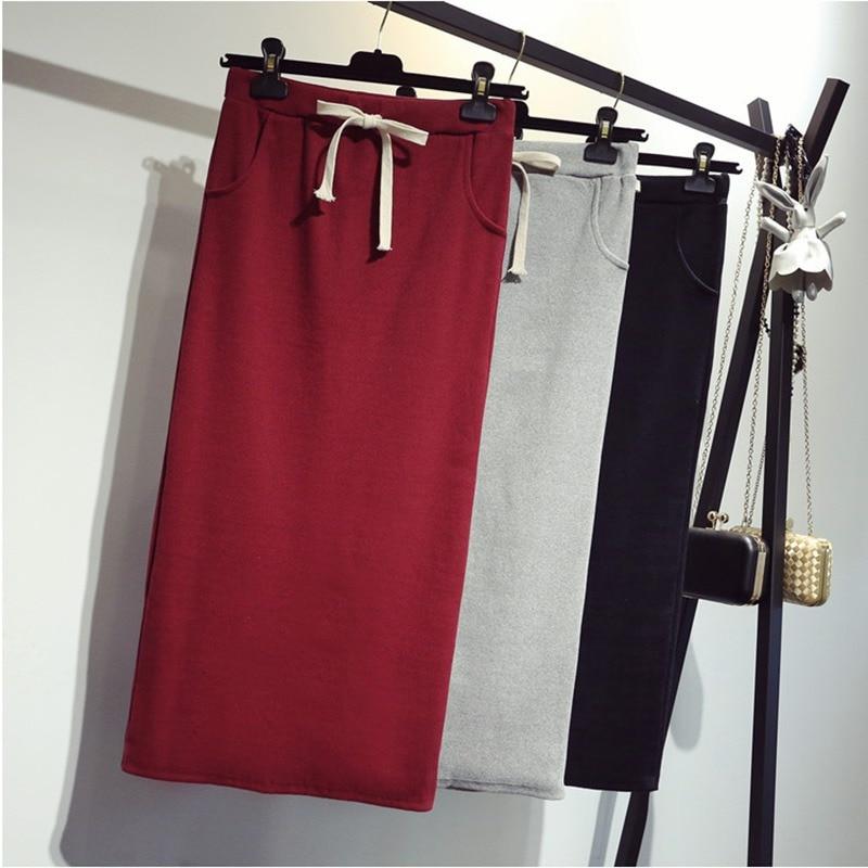 2019 Spring Summer Sexy Women Bodycon Split Long Skirt Black High Waist Tight Maxi Skirts Club Party Wear Elegant Pencil Skirt