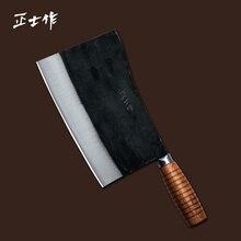 Küchenmesser Hand Geschmiedet edelstahl küchenmesser hacken knochenmesser/schneiden messer Freies Verschiffen handgemachte werkzeug